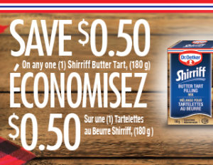 shirriff butter tart coupon